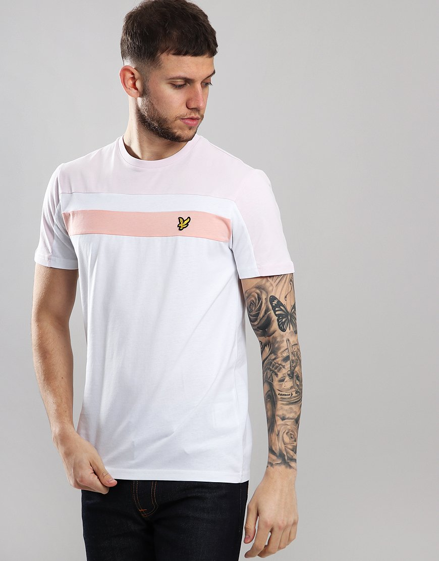 9aad89d5 Lyle & Scott Block T-Shirt White - Terraces Menswear
