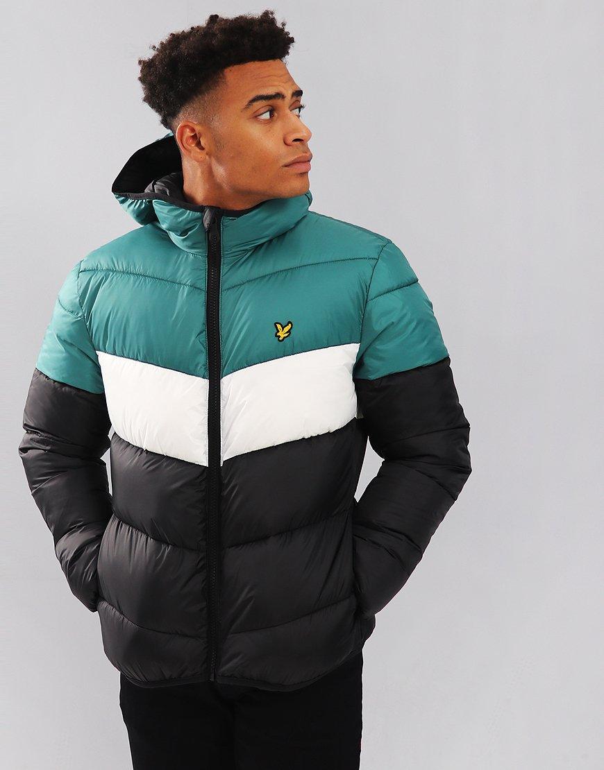 Lyle & Scott Colour Block Puffer Jacket True Black