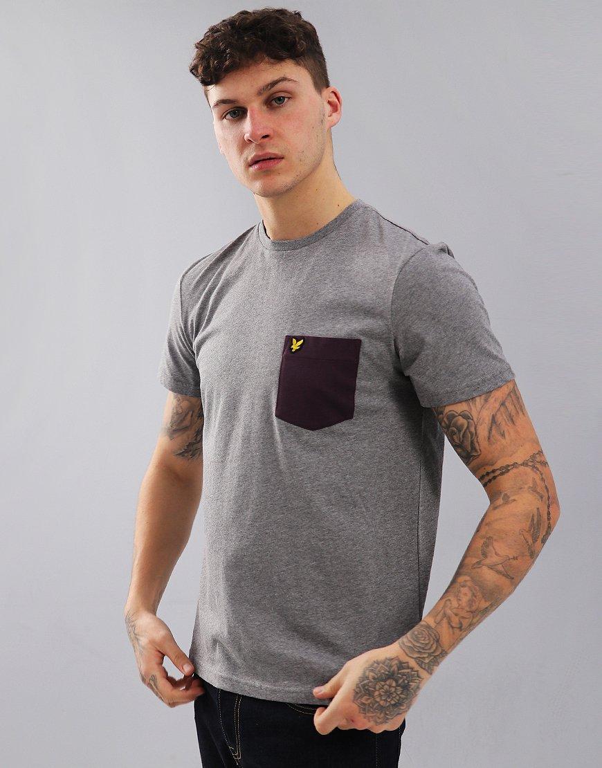 Lyle & Scott Contrast Pocket T-Shirt Mid Grey Marl