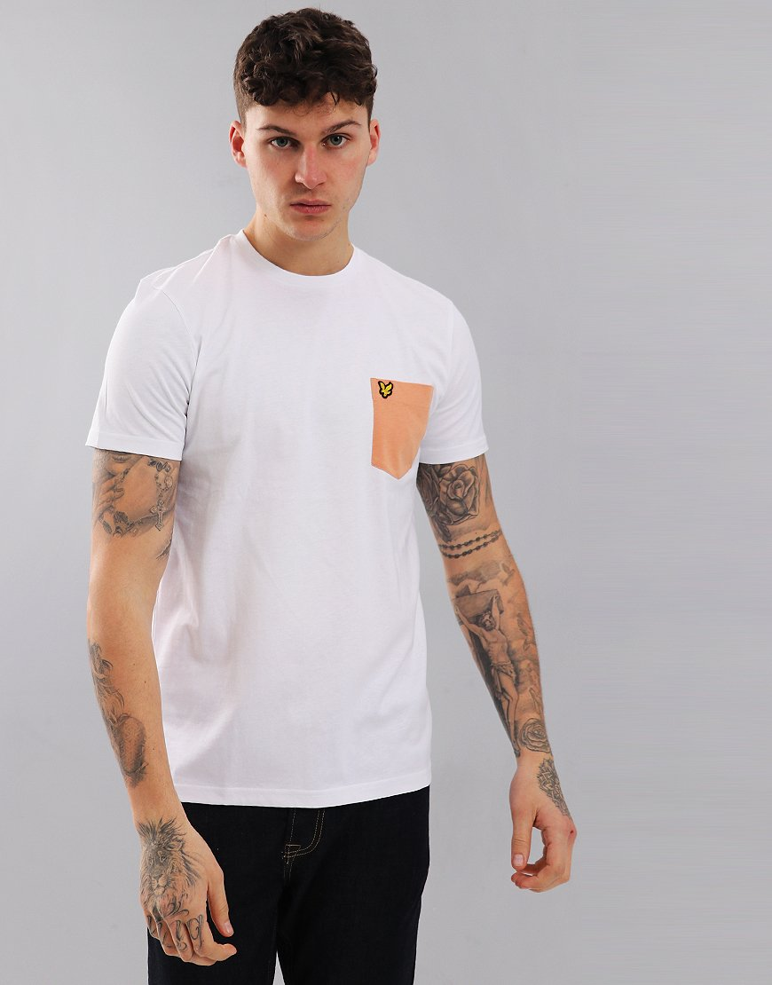 3a1ca6e2 Lyle & Scott Contrast Pocket T-Shirt White - Terraces Menswear