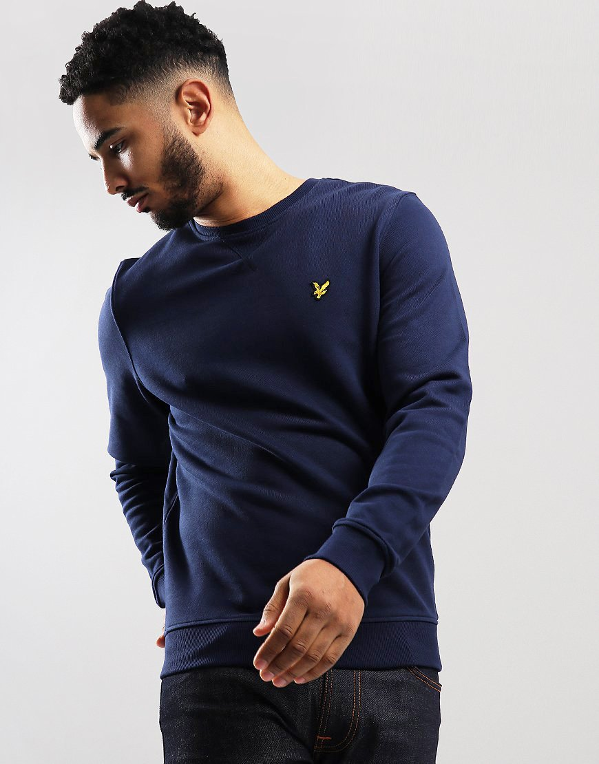 d040ae3766d9 Lyle & Scott Crew Neck Sweat Navy - Terraces Menswear