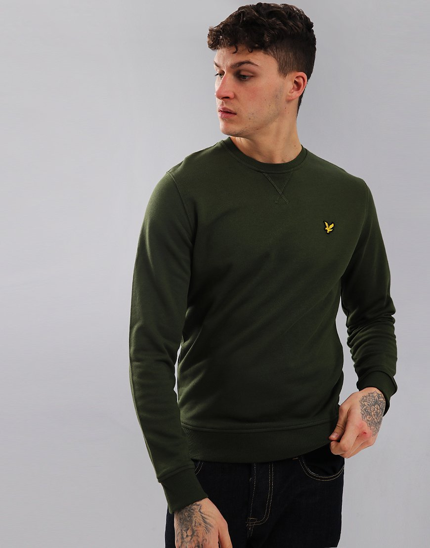 88e4c9d47551 Lyle & Scott Crew Neck Sweat Woodland Green - Terraces Menswear