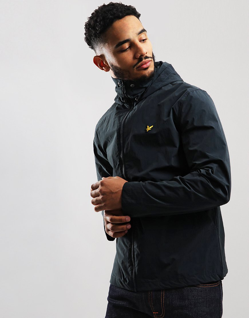 Lyle & Scott Fold Collar Jacket Dark Navy