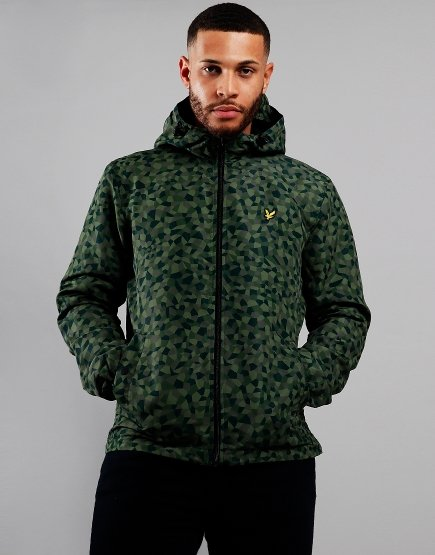 Lyle & Scott Geometric Print Zip Jacket Geo Print