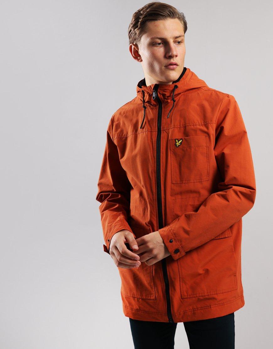 Lyle & Scott Micro Fleece Lined Jacket Tobacco