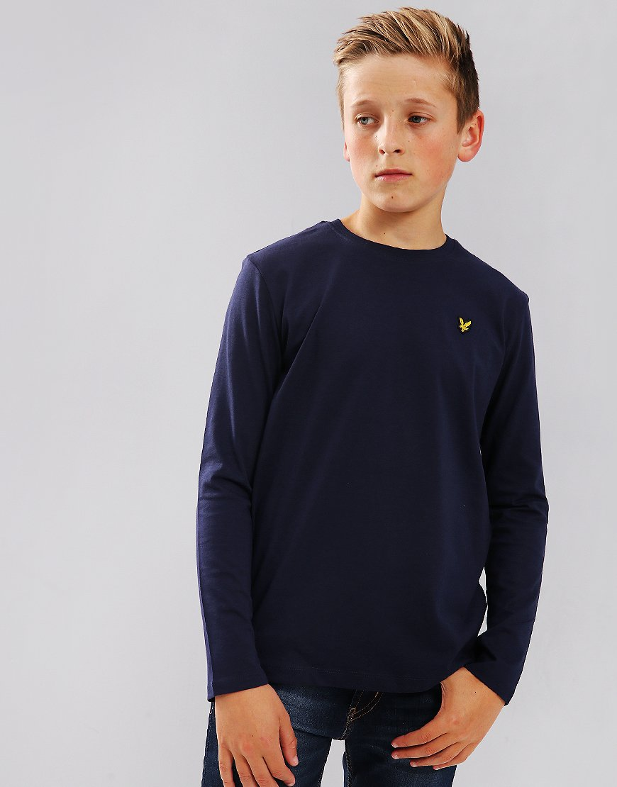 Lyle & Scott Junior Long Sleeved Classic T-Shirt Deep Indigo