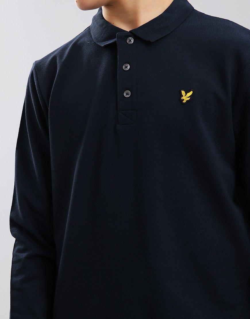 Lyle & Scott Junior Classic Long Sleeve Polo Shirt Navy