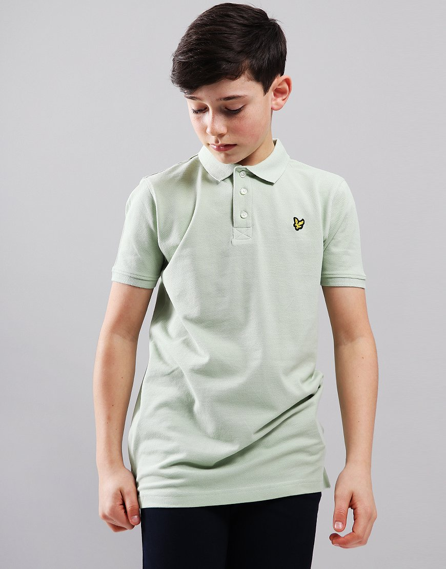 Lyle & Scott Junior Classic Polo Shirt Seafoam