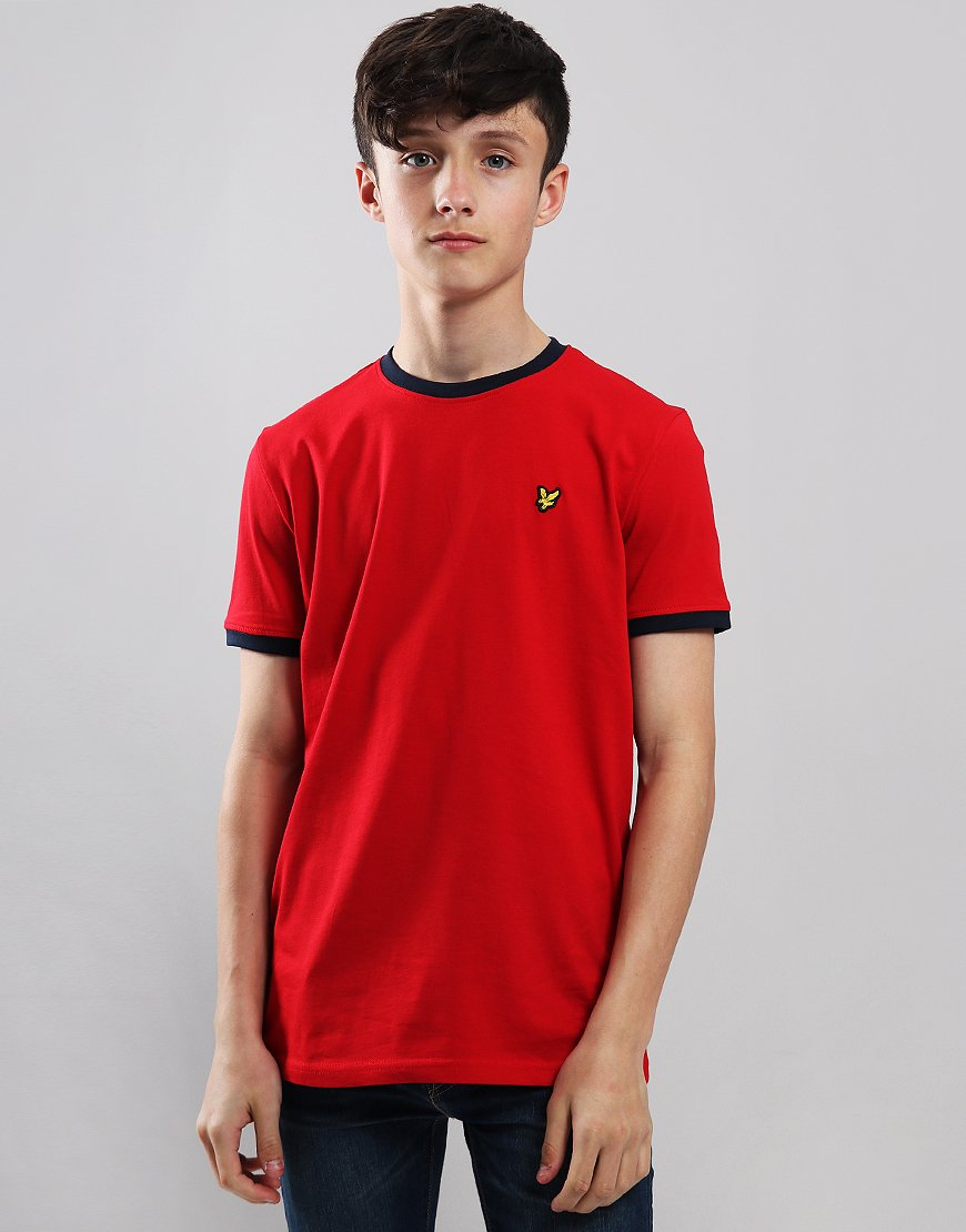 Lyle & Scott Junior Ringer T-Shirt Dark Red