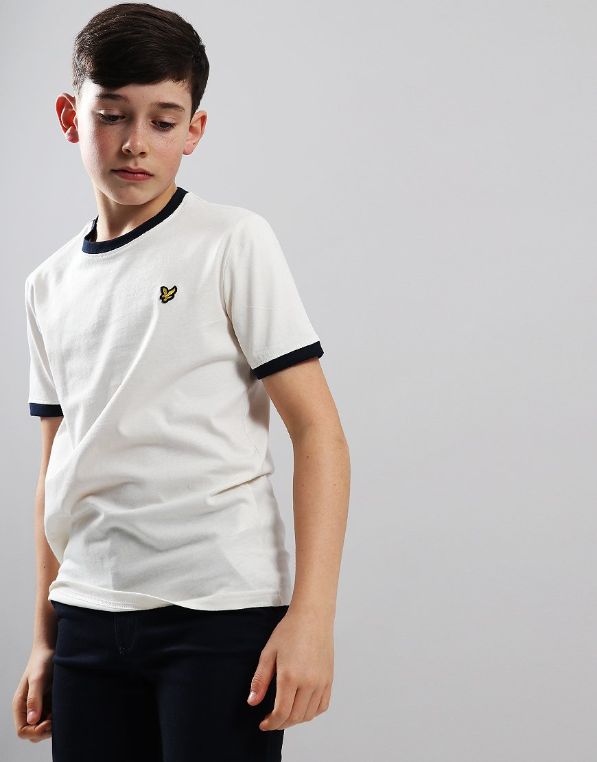 Lyle & Scott Junior Ringer T-Shirt Snow White
