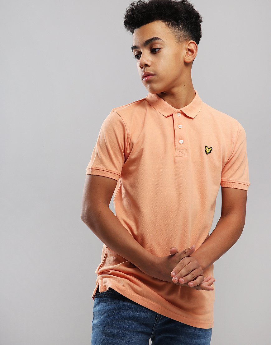 Lyle & Scott Junior Classic Polo Shirt Coral Orange