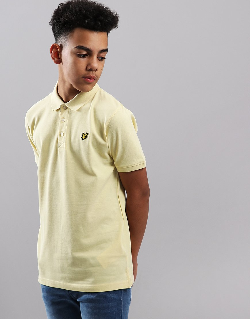 Lyle & Scott Junior Classic Polo Shirt Vanilla Cream