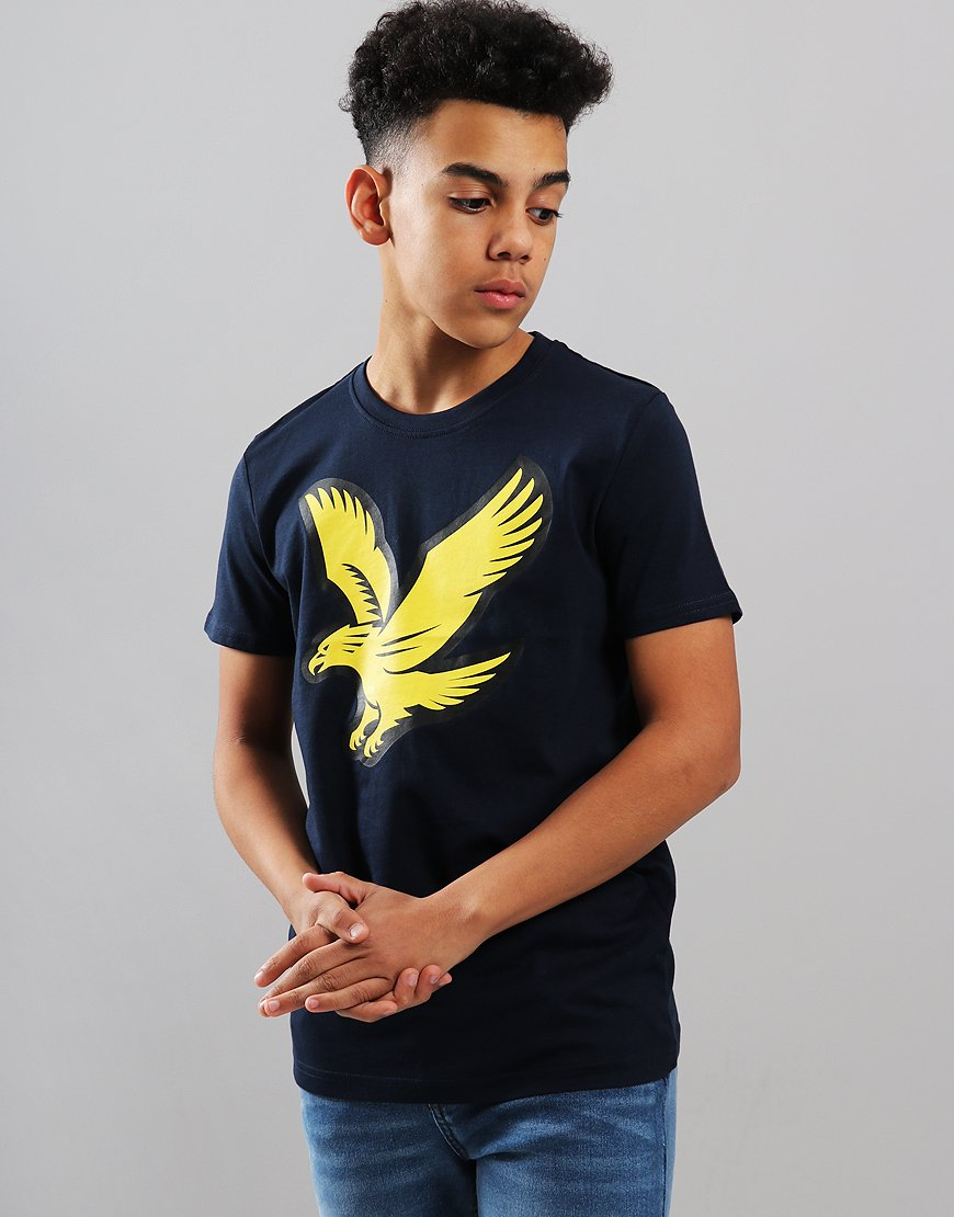 Lyle & Scott Junior Eagle Logo T-Shirt Navy Blazer