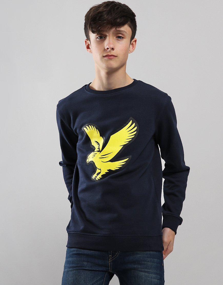 Lyle & Scott Junior Logo Crew Neck Sweat Navy