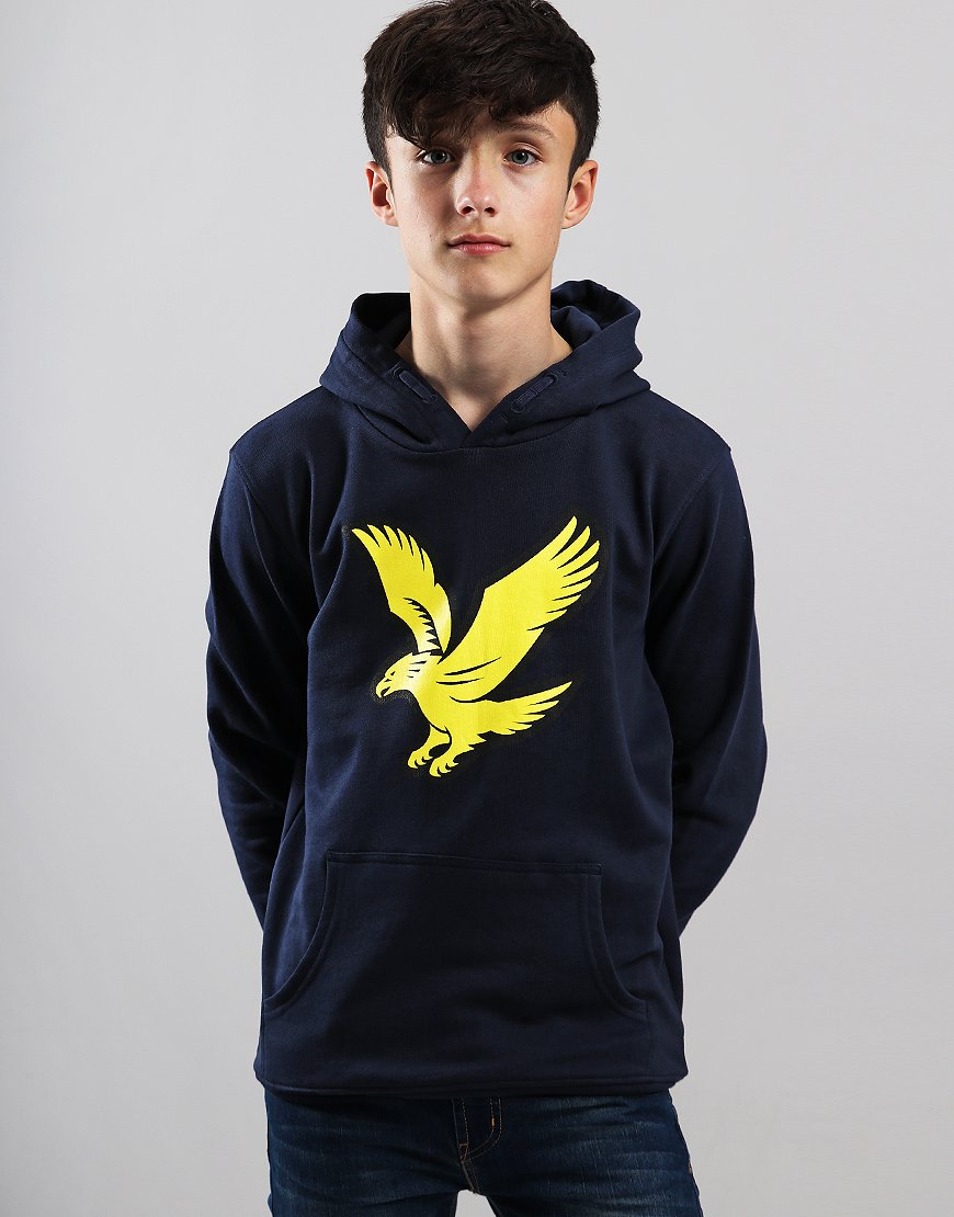Lyle & Scott Junior Logo Over The Head Sweat Navy