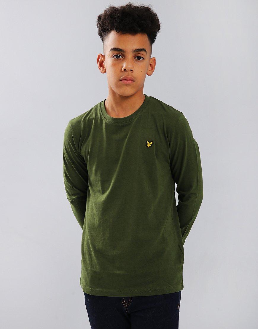 Lyle & Scott Junior Long Sleeved Classic T-Shirt Woodland Green