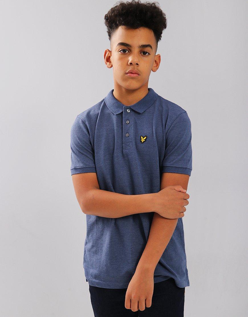 Lyle & Scott Junior Classic Polo Shirt Navy Marl