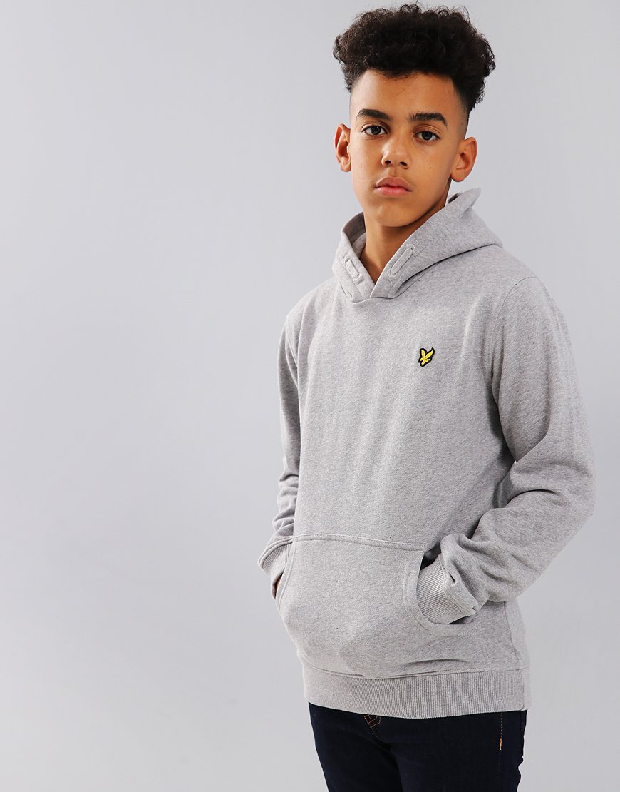 Lyle & Scott Junior Pullover Hoodie Vintage Grey Heather