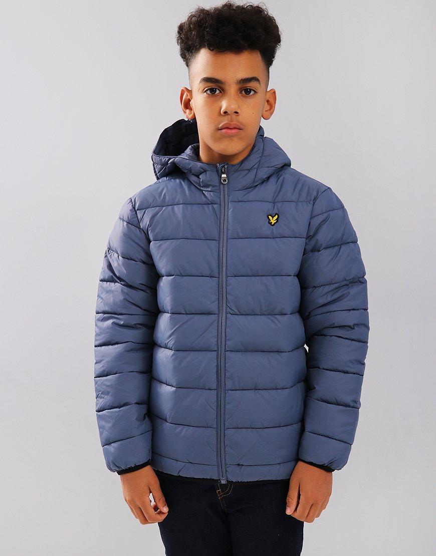 Lyle & Scott Junior Lightweight Puffer Jacket Indigo Blue