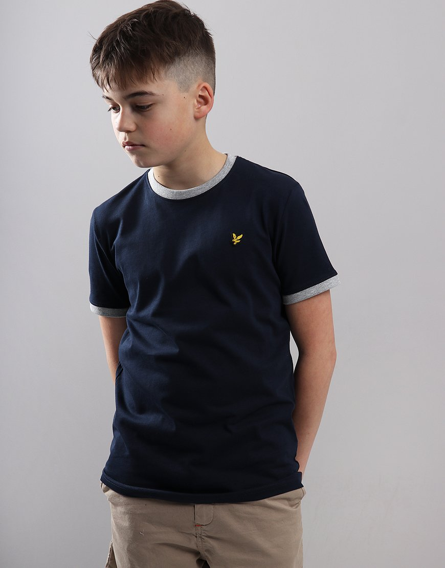 Lyle & Scott Junior Ringer T-Shirt Navy Blazer