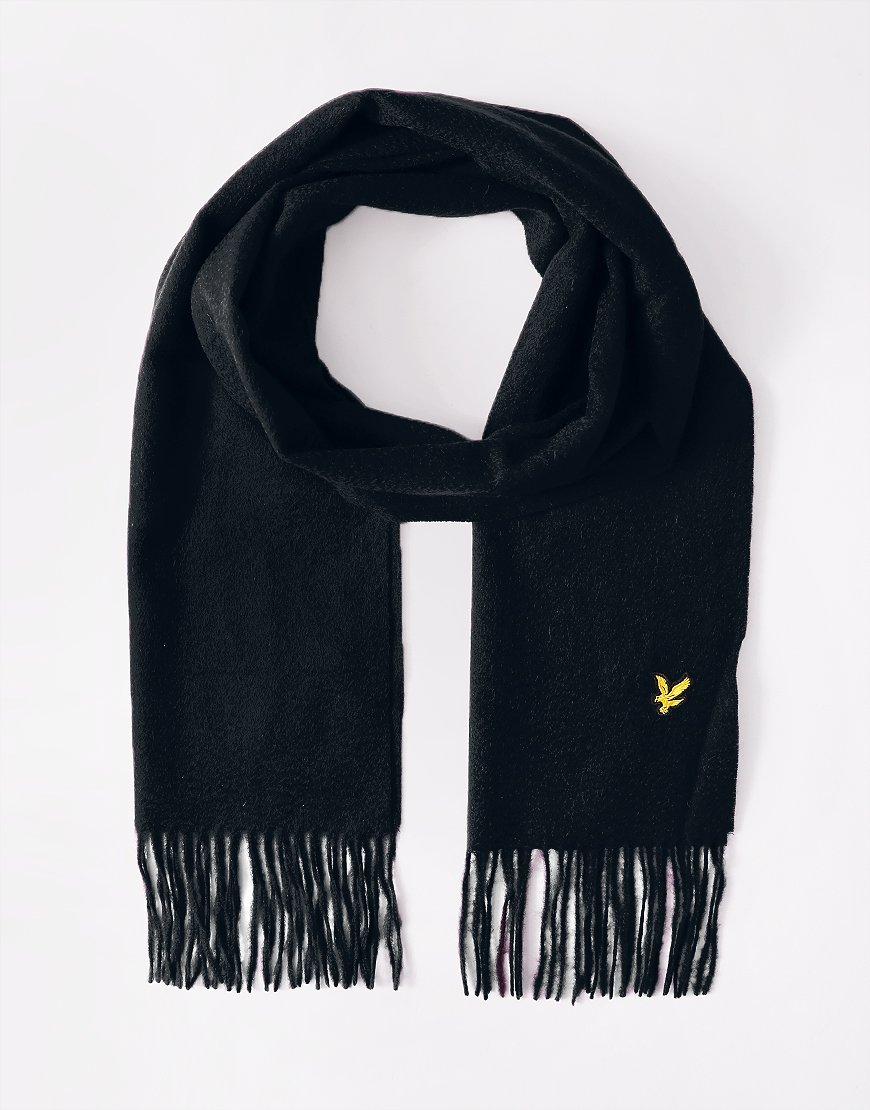 Lyle & Scott Lambswool Scarf Dark Navy