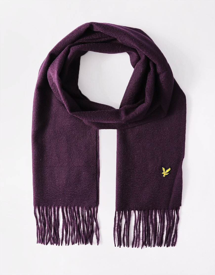 Lyle & Scott Lambswool Scarf Deep Plum