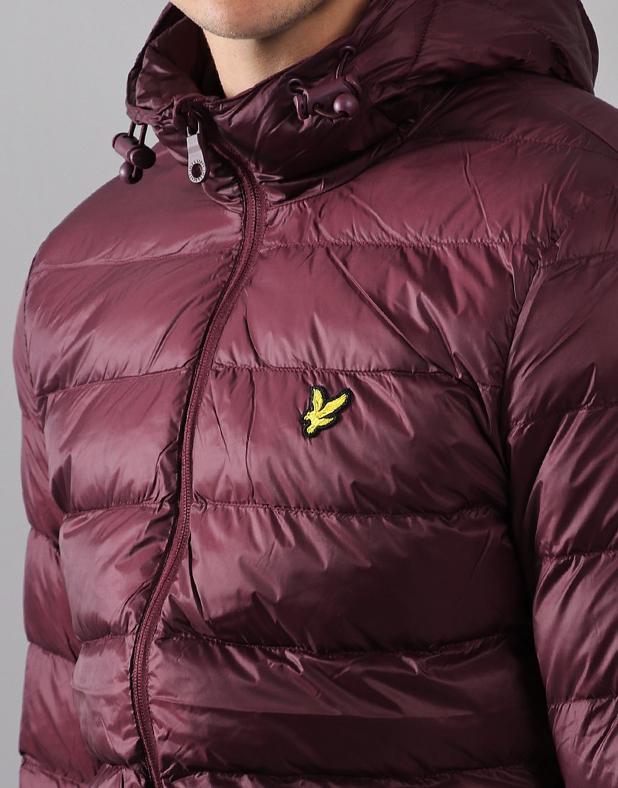 Lyle & Scott Lightweight Puffer Jacket Burgundy