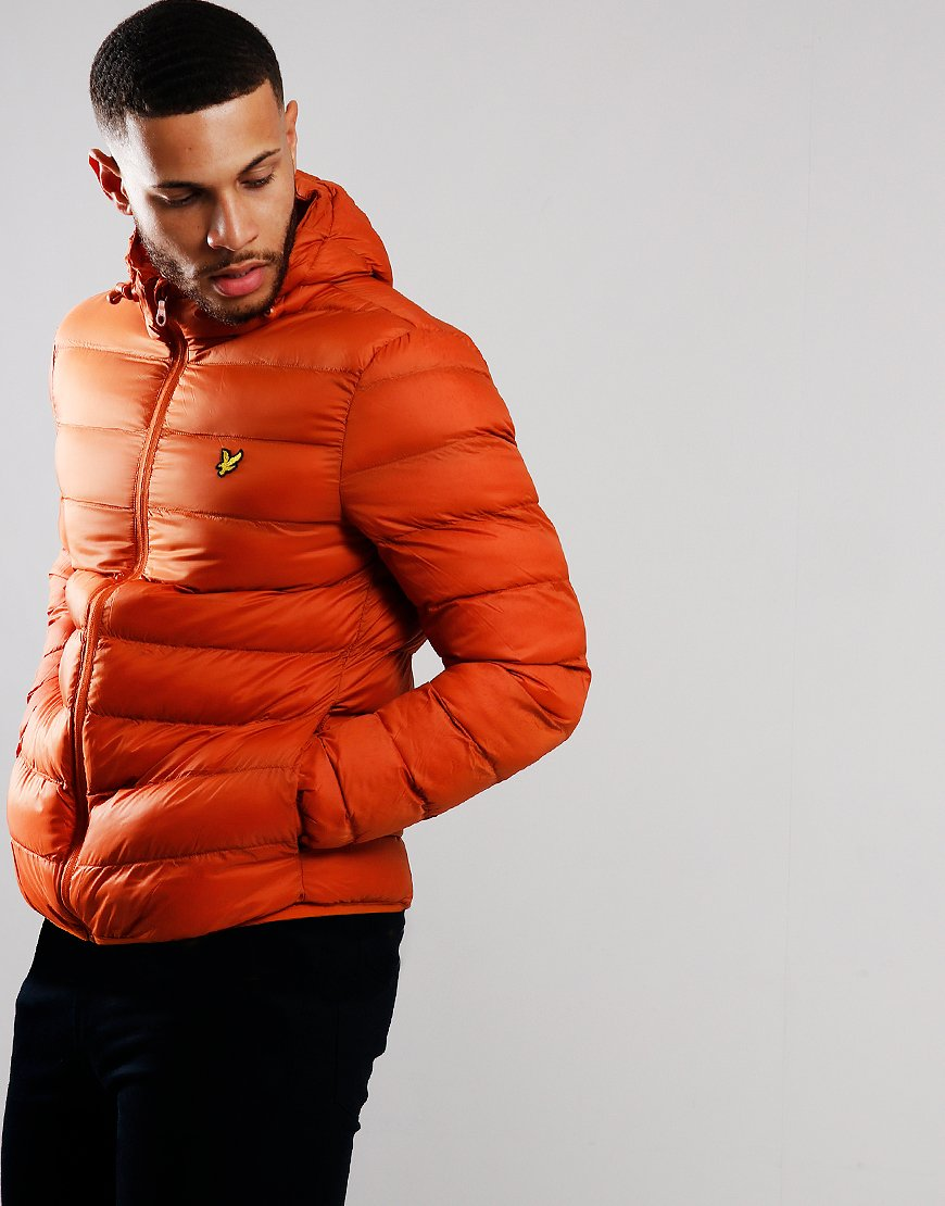 Lyle & Scott Lightweight Puffer Jacket Tobacco