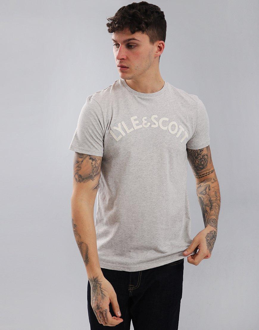 Lyle & Scott Logo T-Shirt Light Grey Marl