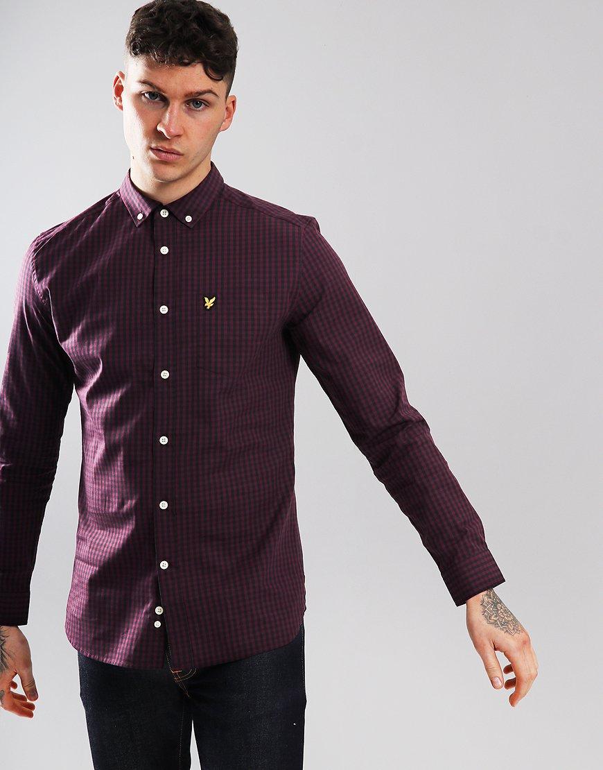 Lyle & Scott Long Sleeve Gingham Shirt True Black