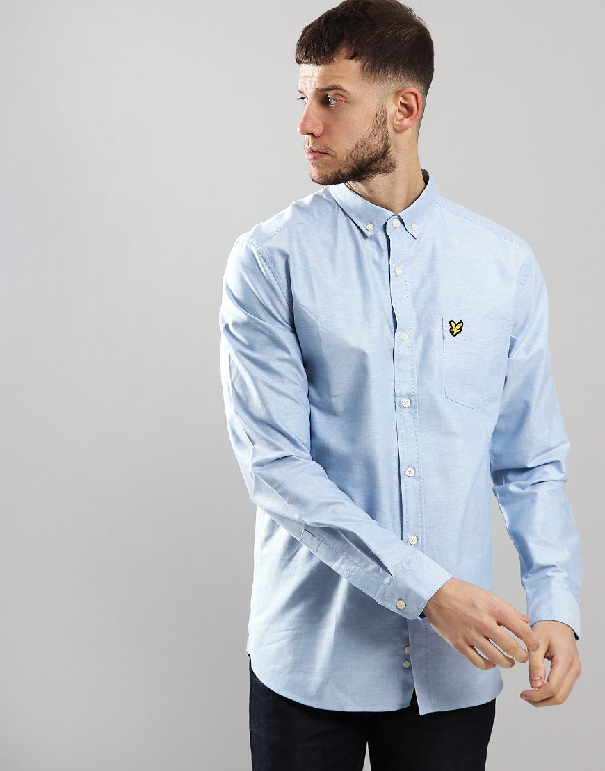 ea9243a34 Lyle & Scott Long Sleeved Oxford Shirt Riviera