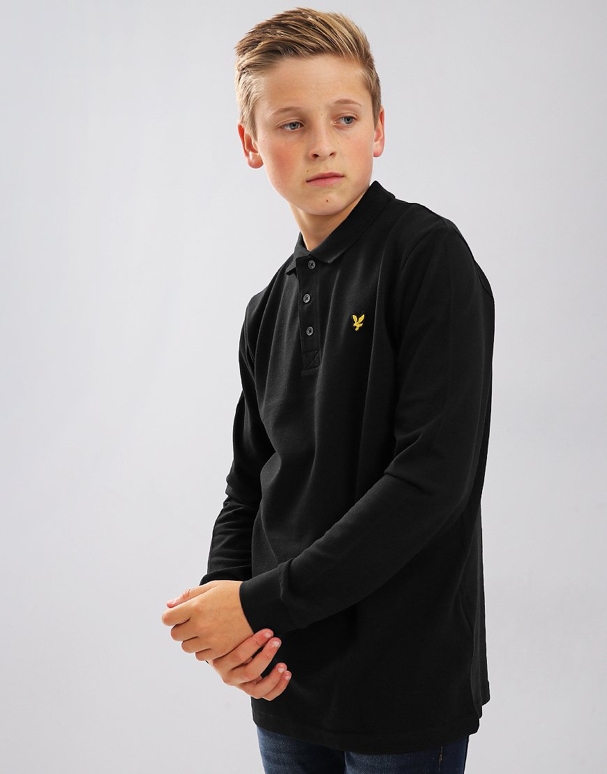 Lyle & Scott Junior Classic Long Sleeve Polo Shirt True Black