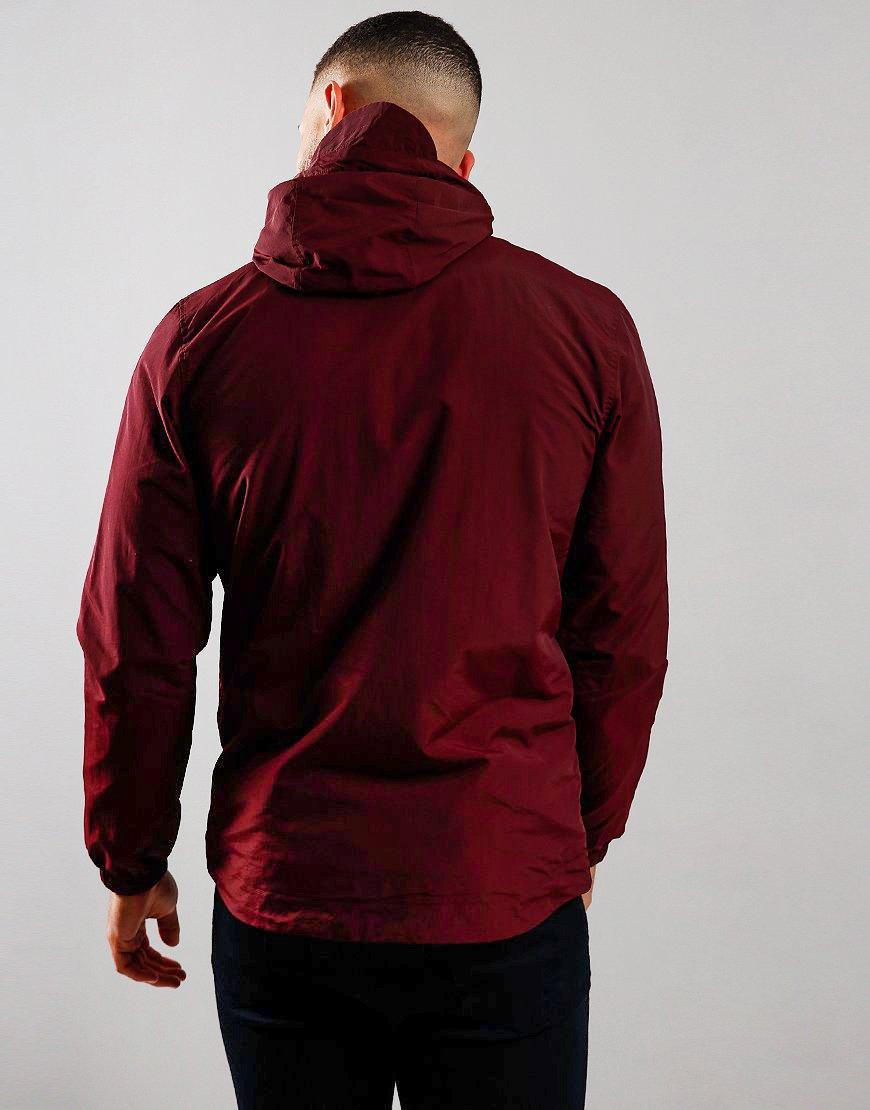 Lyle & Scott Micro Fleece Hooded Jacket Burgundy