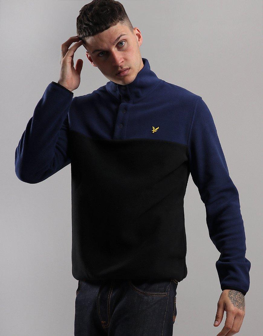 Lyle & Scott Micro Fleece Pullover Navy