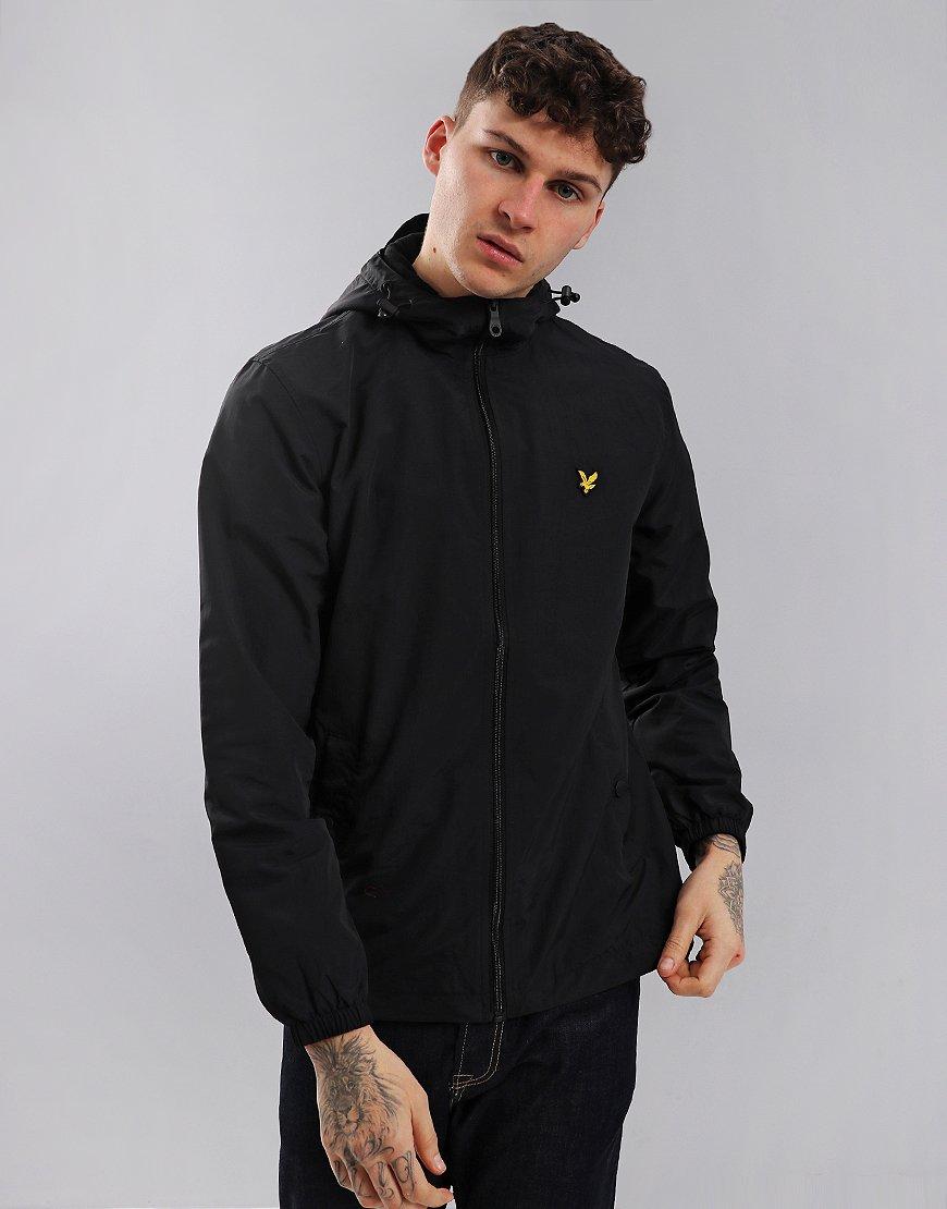 Lyle & Scott Micro Fleece Hooded Jacket True Black