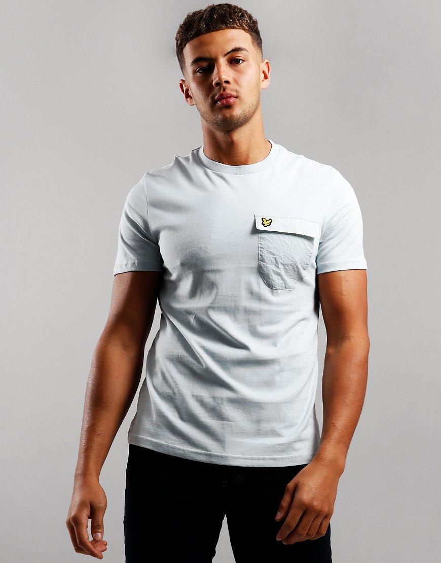 Lyle & Scott Nylon Pocket T-Shirt Light Silver