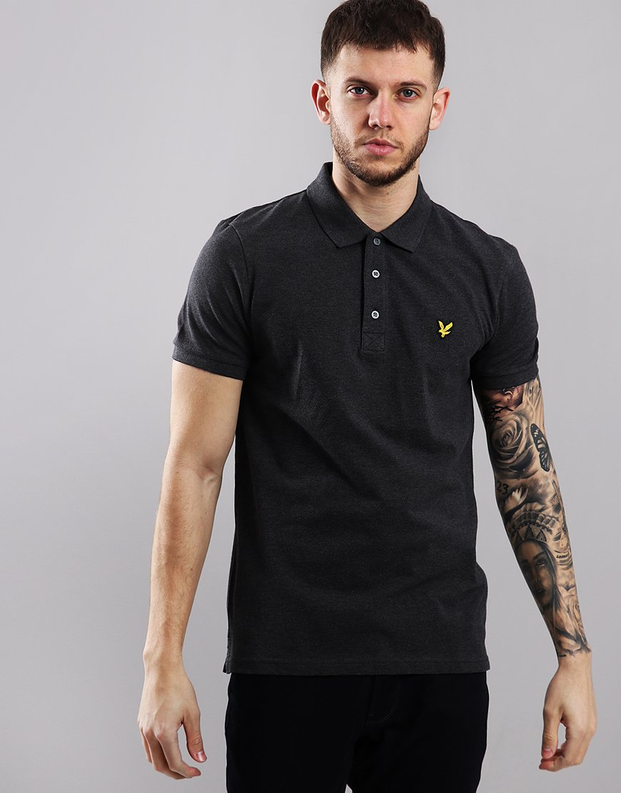 3693d484 Lyle & Scott Plain Polo Shirt Charcoal Marl - Terraces Menswear