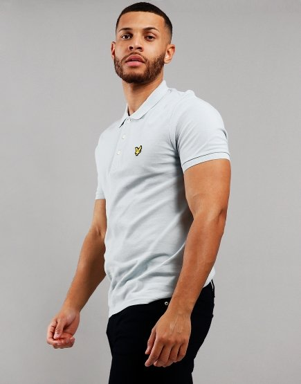 Lyle & Scott Polo Shirt Light Silver