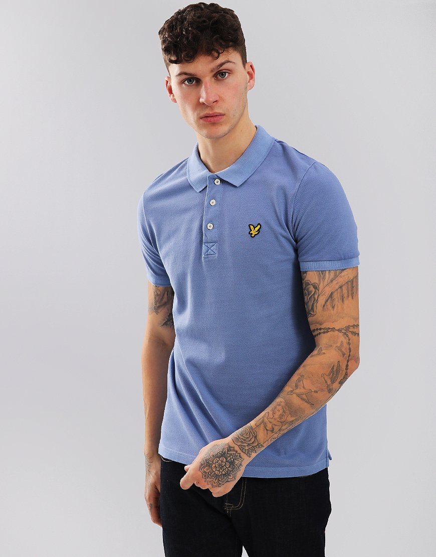 Lyle & Scott Snow Wash Polo Shirt Cornflower Blue