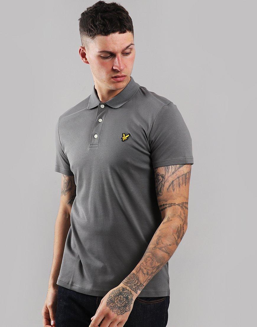 Lyle & Scott Soft Touch Polo Shirt Urban Grey