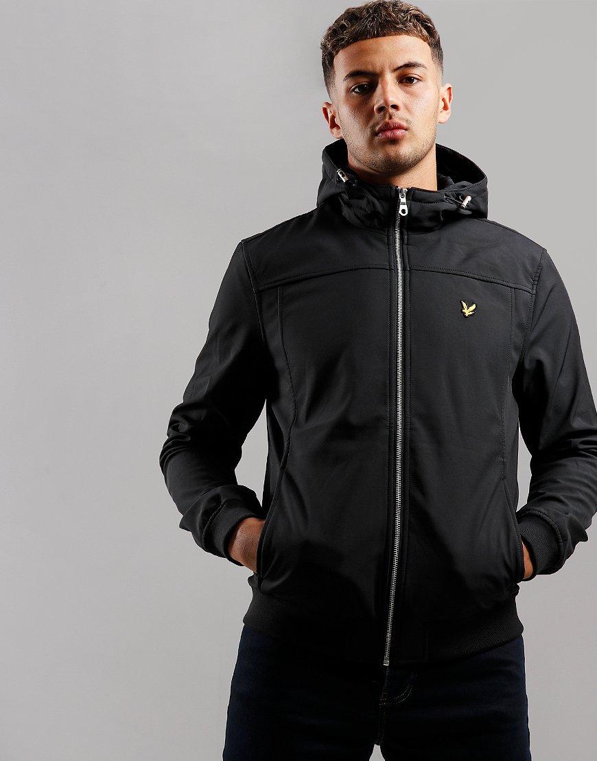 Lyle & Scott Hooded Softshell Jacket True Black