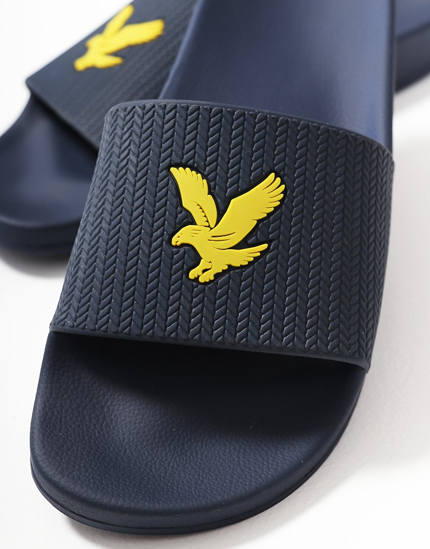 47827e33fe56 Lyle   Scott Thomson Slides Navy - Terraces Menswear