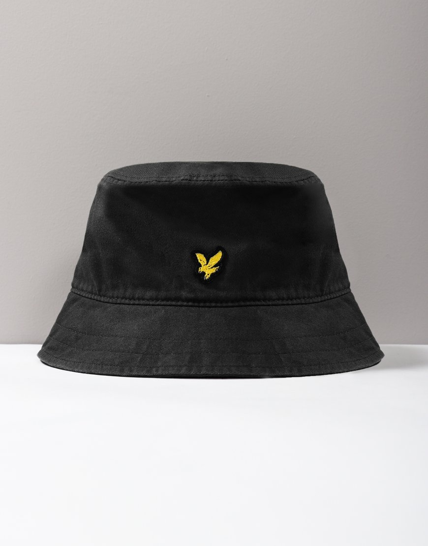 Lyle & Scott Cotton Twill Bucket Hat Black
