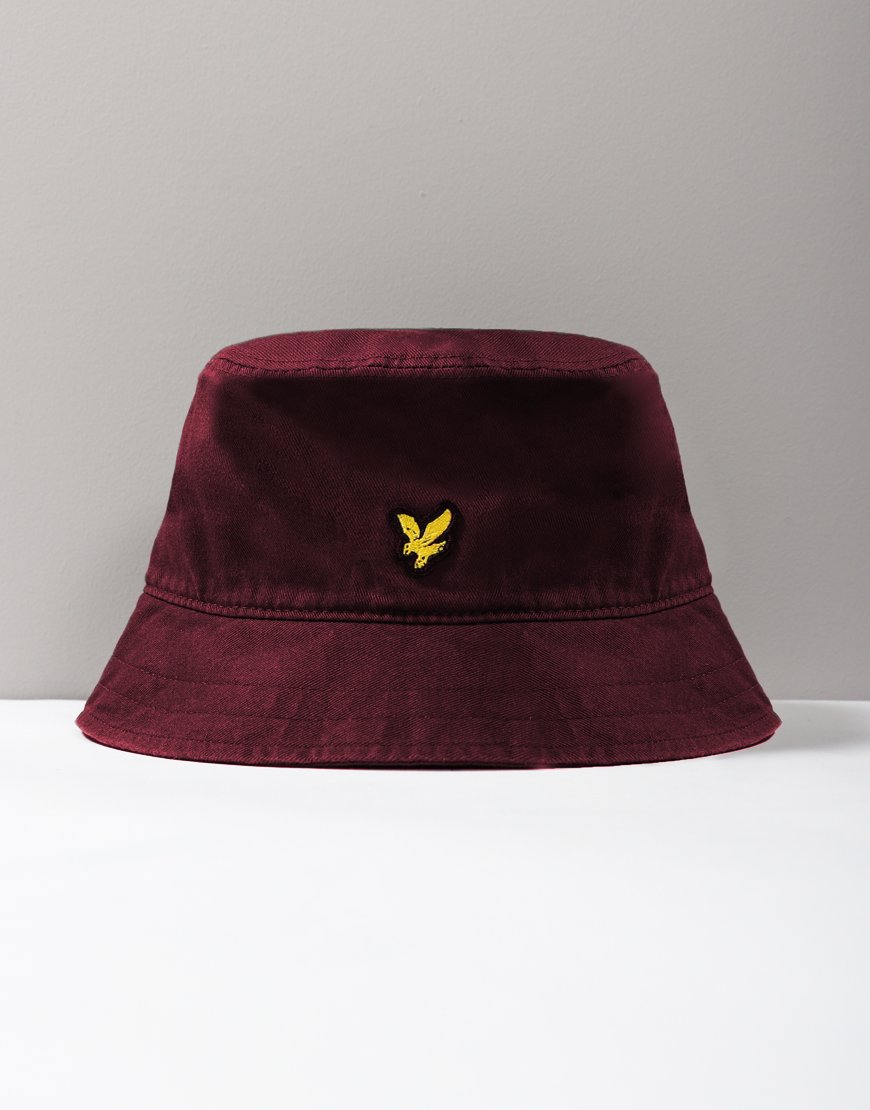 Lyle & Scott Cotton Twill Bucket Hat Claret Jug
