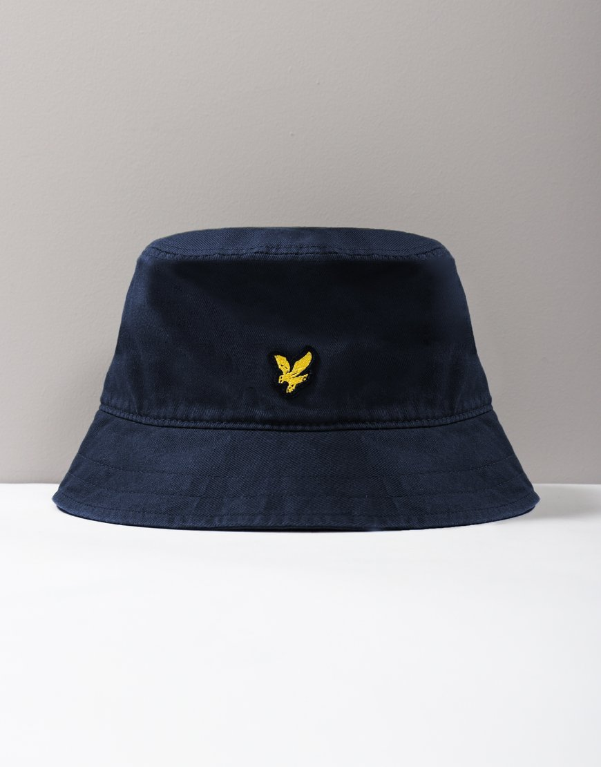 Lyle & Scott Cotton Twill Bucket Hat Navy