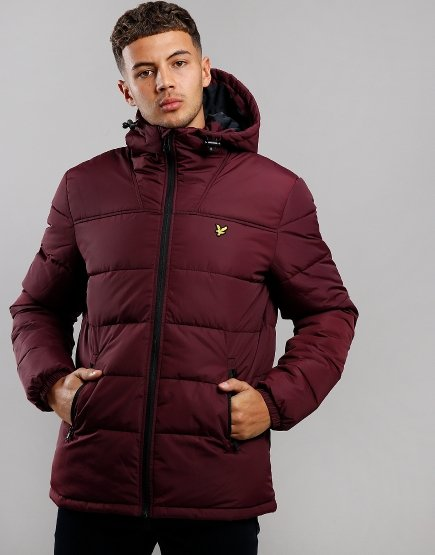 Lyle & Scott Wadded Jacket Burgundy