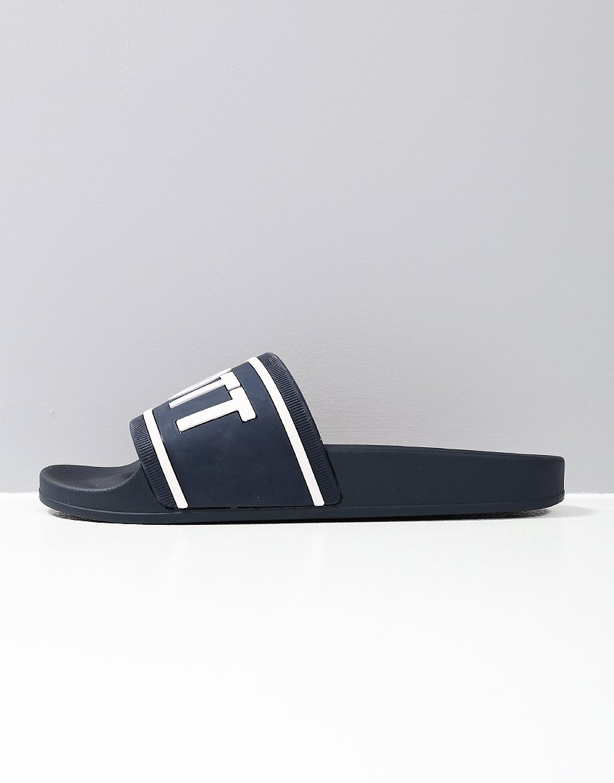 Lyle & Scott Wallace Slides Dark Navy