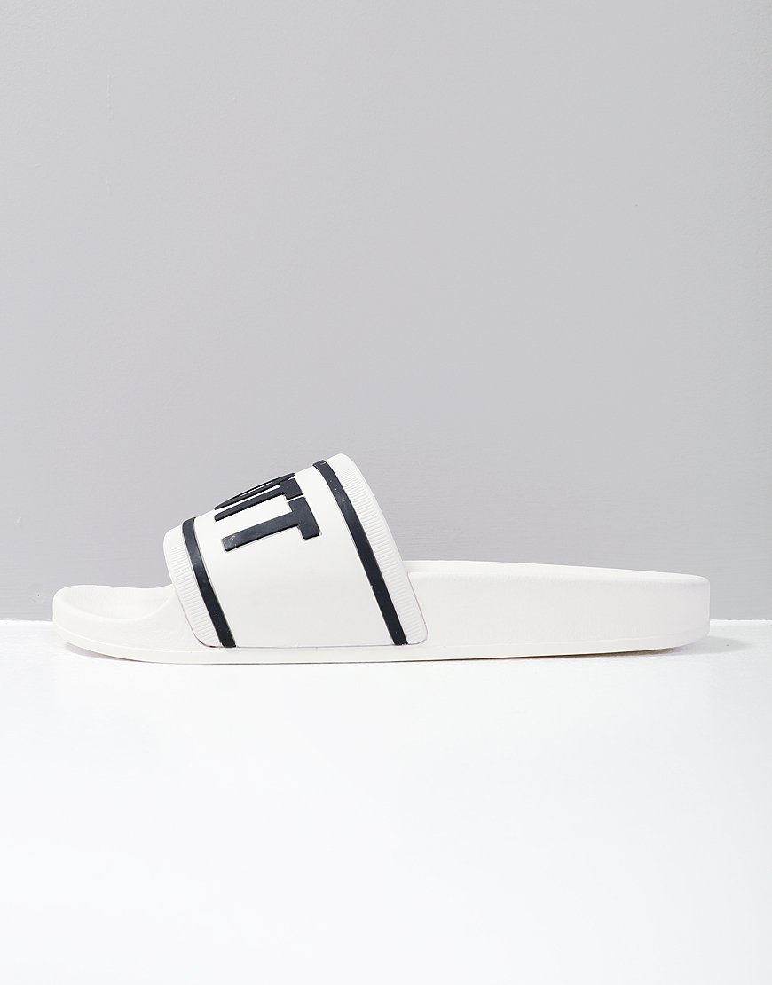 Lyle & Scott Wallace Slides White/Dark Navy
