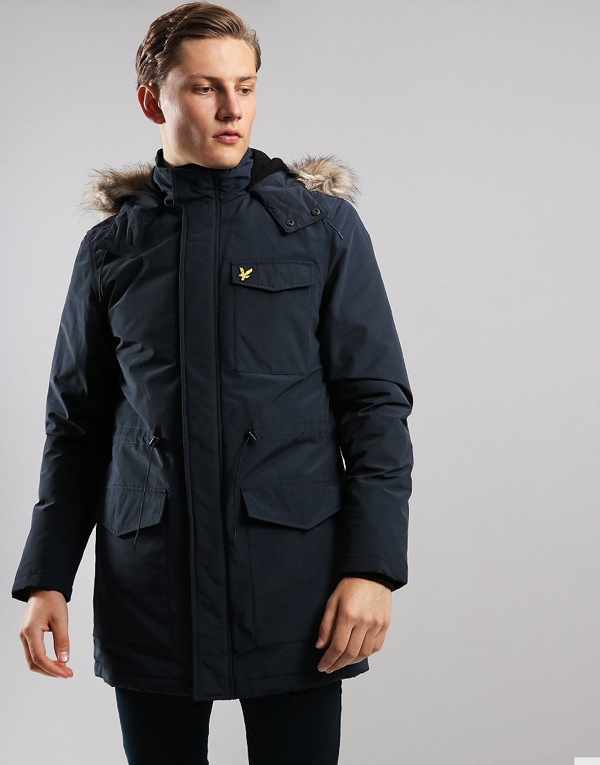 Lyle & Scott Winter Weight Parka Dark Navy