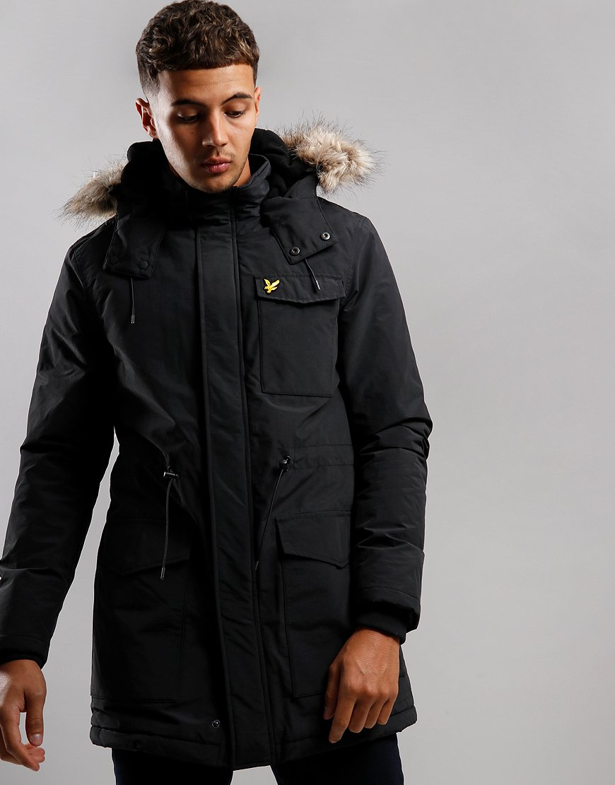 Lyle & Scott Winter Weight Parka True Black